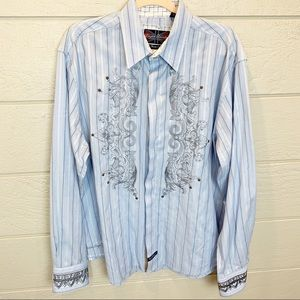 English Laundry Metallic Western Style Shirt